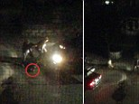The harrowing images, taken by a resident of the suburban Watertown street shortly after midnight on Friday, show the Tsarnaev brothers clearly taking aim at police officers as they shelter behind a vehicle.