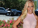 Bad smash: New pictures emerged of Kendra's car accident
