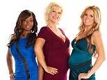 Hunting for Mr Right: Pregnant & Dating, which is set to air on WE tv on June 1, focuses on five single moms-to-be who are on the lookout for love (pictured from left Kiesha, Rachel, Shana)