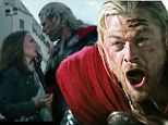 Thor returns: The mighty Thor played by Chris Hemsworth has returned for the sequel Thor: The Dark World with a new trailer showing him reunited with love interest Jane Foster played by Natalie Portman