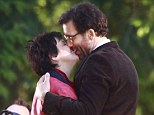 Clive Owen and Juliette Binoche share intimate kiss on set of new film