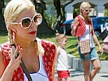 Body after four babies: Tori Spelling enjoyed a day out in LA over the weekend