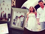 Look at us we're SO happy! Ms Rimes shares card from Eddie Cibrian as they mark second wedding anniversary