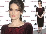 Cool beauty! Winona Ryder is regal in red velvet frock as she attends The Iceman premiere