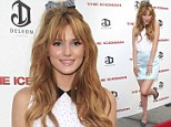 One way to melt their hearts! Teen star Bella Thorne tops her retro two-piece ensemble with a pretty bow at The Iceman premiere
