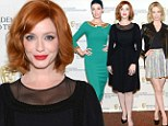 Mad Men's Christina Hendricks and Jessica Paré highlight their curves while January Jones flaunts her pins at BAFTA event