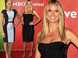 Competing already? America's Got Talent newcomer Heidi Klum steals the spotlight in plunging black dress as she joins Mel B at NBC event