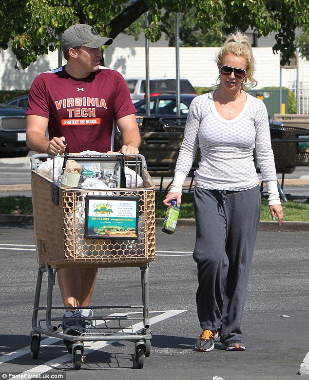 being herself: Britney was wearing minimal make-up with David, which suggested just how comfortable she feels around the law firm worker
