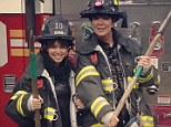 Kris Jenner and Kourtney Kardashian turn up the heat as they pose in firefighter gear in Instagram snap