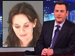 Funny guy: Jimmy Kimmel made fun of Reese Witherspoon's arrest on Monday night