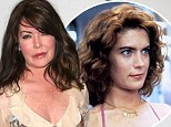 Twenty-one years on: Lara Flynn Boyle played the obsessive and accident-prone Stacy in the cult classic Wayne's World and right, at the movie's reunion in LA on Tuesday