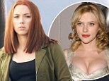 Has Scarlett lost her famous figure? Johansson's curves appear less ample as she reveals her red hot russet tresses on Captain America set