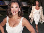 Stealing the show! Vanessa Williams, 50, turns heads in a VERY low cut cream dress after Broadway play opening