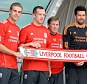 New faces: Kenny Dalglish (centre) unveils Jordan Henderson, Charlie Adam Alexander Doni and Stewart Downing