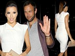 White hot Eva Longoria flashes coy smile as she dines out with rumoured love interest Ernesto Arguello from failed dating show