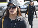 Trim, tight and terrific! Paula Patton parts traffic as she leaves the gym in particularly figure-gripping workout attire, showing off her luscious curves