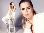 Bradley Cooper's British model girlfriend Suki Waterhouse smoulders as face of French Connection's all-white collection