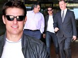 Lunch is on me! Tom Cruise has celebratory meal with friends after topping box office with Oblivion