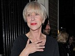 All bright on the night: Helen Mirren brightens up her outfit with matching shoes and scarf