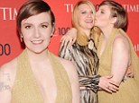 GIRLS unite! 'Influential person' Lena Dunham plants a huge kiss on Claire Danes at Time 100 Gala