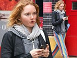 Lily Cole wears outrageous trousers in NYC