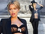 That'll stop traffic! Sylvie van der Vaart poses in a bra and top hat as she shoots sultry new underwear campaign in Paris