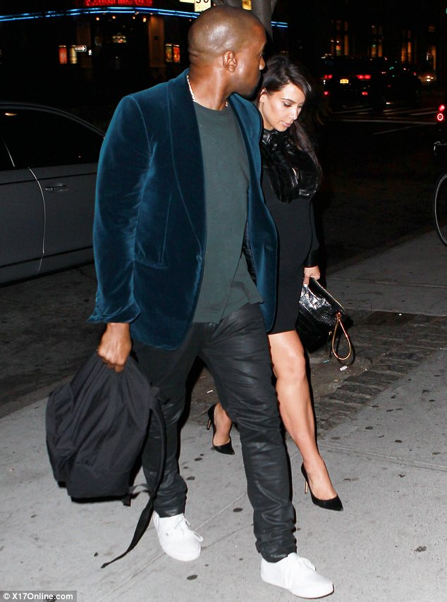 Dining out: Kim and Kanye were seen leaving ABC Kitchen after enjoying a dinner together