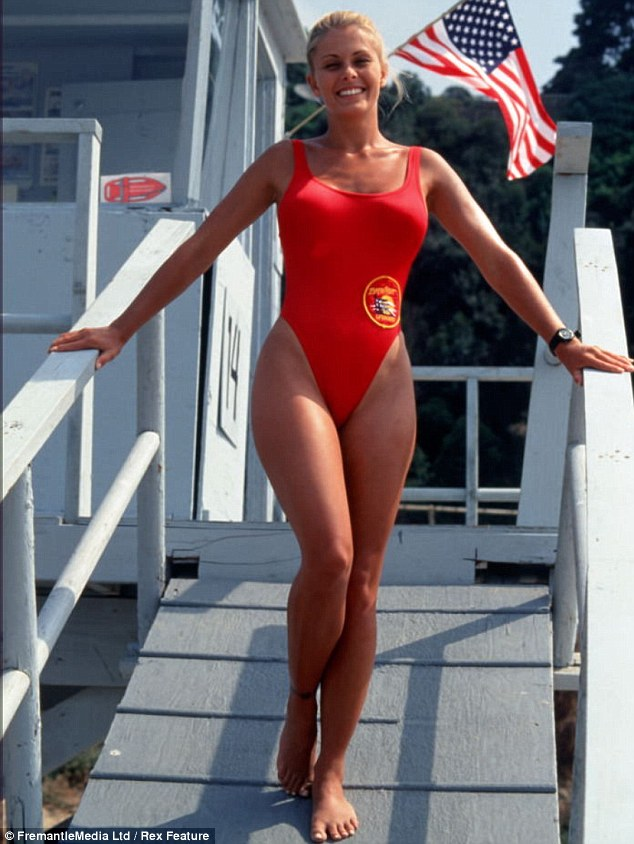In her heyday: Nicole as a lifeguard in hit Nineties show Baywatch