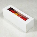 6 White Window Macaron Boxes($1.60/pc x 25 units)