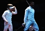 Outpouring of emotion after Fencing bout