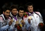 Republic of Korea celebrate their second Fencing gold at London 2012