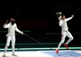 Lei Sheng wins gold in the Foil