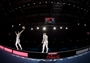 Aldo Montano of Italy and Alexey Yakimenko of Russia during men's Sabre Fencing