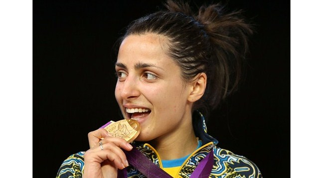 Ukrainian Yana Shemyakina wins gold in the women's Epee Individual Fencing