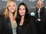 With Friends like these! Lisa Kudrow outshines Courteney Cox at art exhibition