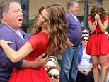 William Shatner and Maria Menounos ballroom dance for Extra at The Grove