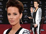 Classy lady! Kate Beckinsale dons prim three-piece suit to attend Funny Girl premiere