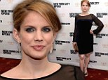 Daring choice! Pregnant Anna Chlumsky glows in blue velvet mini dress at New York City Opera Spring Gala