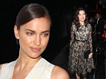 Irina Shayk keeps it simple in black and white at Eleven Paris launch... as Daisy Lowe goes girlie in lace