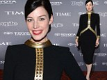 Mad Men beauty Jessica Pare is retro-ravishing in '60s style curve hugging dress at White House Correspondents pre-parties