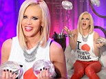 She's got her hands full! Jenny McCarthy juggles a set of silicone breast implants as she discusses her own enhancement