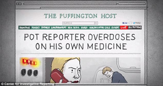 Cute: With the Center for Investigative Journalism, Montgomery made a comically animated video on his ordeal