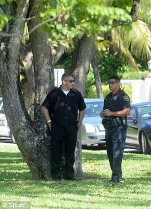 Caution: The Palm Beach Police have ordered extra patrols on hand at the church between 2pm and 6pm