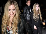 Avril Lavigne smokey eyes for Viper Rooms gig