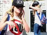 Ashley Benson shows off her bra in racy outfit while out for lunch