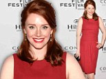 Red hot: Bryce Dallas Howard donned a curve-hugging red dress and sported a scarlet pout as she arrived at the TFF Awards Night during the 2013 Tribeca Film Festival