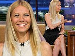 Still living up to her new title: Gwyneth Paltrow shows off beauty with slender black and white dress for Tonight Show audience