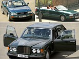 A 2.5l Audi Quatro once owned by Princess Diana and pic Princess Diana, Prince Harry and Prince William in the car in Jun 1994