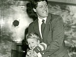 Daddy's girl: Chelsea Clinton tweeted a rare picture of herself as a toddler today, swinging blissfully in the arms of her former President dad