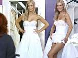Bride-to-be: Joanna Krupa was seen trying on wedding gowns at Chagoury Couture in Beverly Hills, California on Thursday